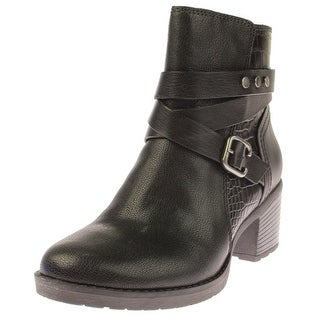 Naturalizer Womens Ringer Ankle Boots Leather Buckle