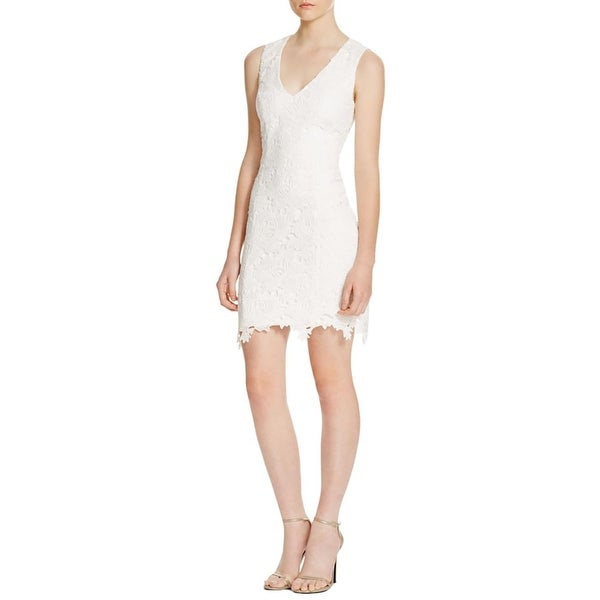 Bardot Womens Cocktail Dress Lace Overlay Sleeveless