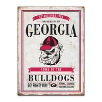 University of Georgia Vintage Tin Sign