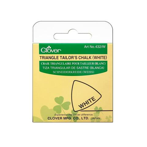 432 w clover triangle tailor chalk white