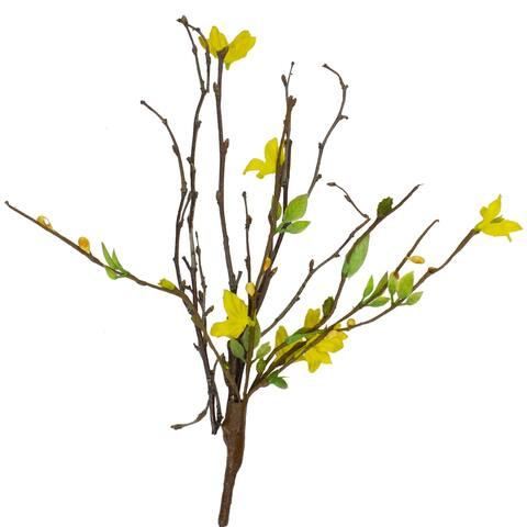 """9"""" Yellow Forsythia Flower Branch Artificial Spring Pick Decoration"""