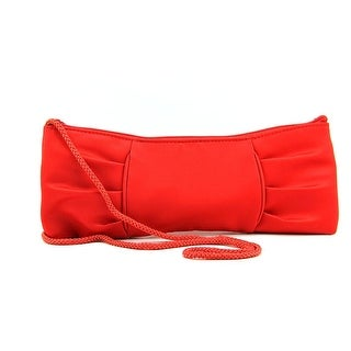 La Regale East West Bow Women Synthetic Evening Bag - Red