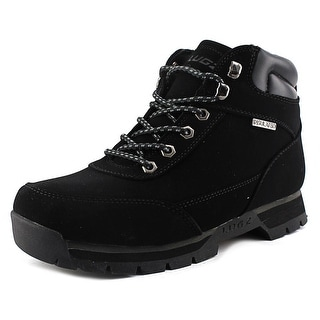 Lugz Scavenger Men Round Toe Suede Black Boot
