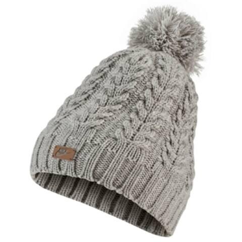 Nike Women's Sportswear Knit Pom Beanie Hat, Dark Grey