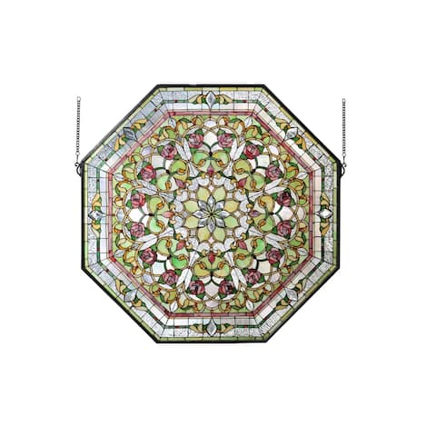 """Meyda Tiffany 107225 Front Hall Floral Hand-Crafted 35""""H X 35""""W"""