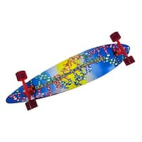 42 Inch Complete Pintail Longboard Speed Skateboard - Multicolored