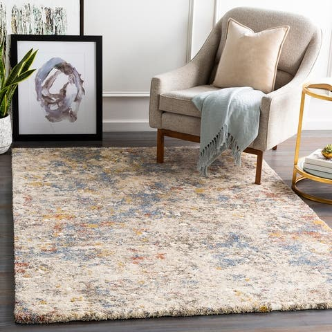 Nickie Plush Abstract Area Rug