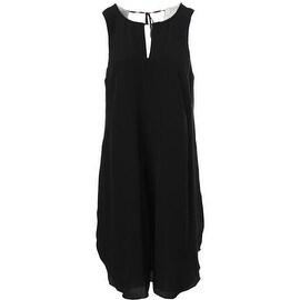 Eileen Fisher Womens Silk Keyhole Party Dress
