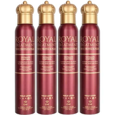 Chi Royal Treatment Ultimate Control Hairspray 10 Ounce (Pack of 4)