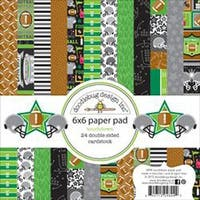 "Touchdown - Doodlebug Double-Sided Paper Pad 6""X6"" 24/Pkg"