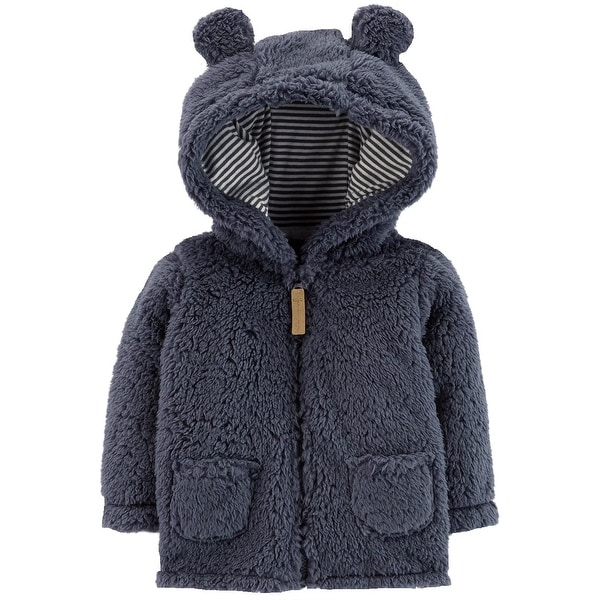 9fa9da22d Shop Carter s Baby Boys  Blue Sherpa Hooded Jacket