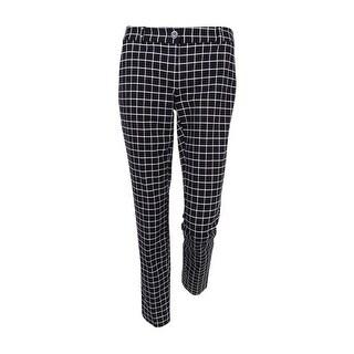 MICHAEL Michael Kors Women's Miranda Printed Skinny Pants (Black, 0)