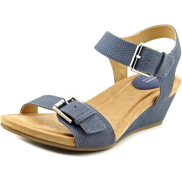 Giani Bernini Bryana Women Open Toe Synthetic Blue Wedge Sandal