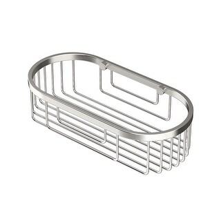 "Gatco 1577 10"" Oval Shower Basket - satin nickel"