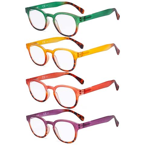 Eyekepper 4 Pack Ladies Reading Glasses - Round Readers for Women