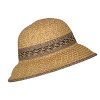 CTM® Women's Mixed Braid Tribal Bucket Hat