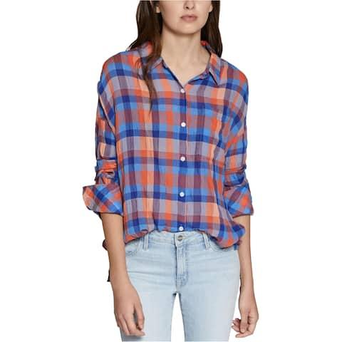 Sanctuary Clothing Womens Boyfriend Button Up Shirt