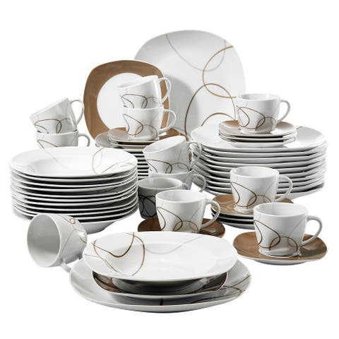 VEWEET 'Nikita' Porcelain Dinnerware Set (Service for 6)