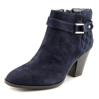 Alfani Wakefeld Women Pointed Toe Suede Blue Bootie