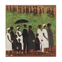 ''Funeral Procession'' by Ellis Wilson African American Art Print (30.125 x 26.75 in.)