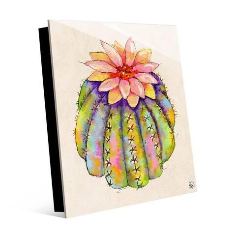 Kathy Ireland Lush Colorful Cactus Abstract on Acrylic Wall Art Print