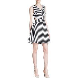 MICHAEL Michael Kors Womens Casual Dress Ponte Striped