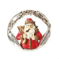 "3"" Christmas Traditions Red Santa Claus Portrait Christmas Ornament"