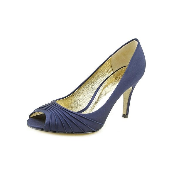 Adrianna Papell Farrel Women Peep-Toe Canvas Blue Heels