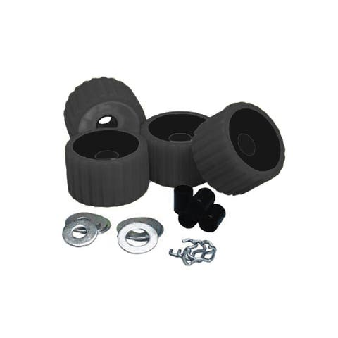 Ce smith ribbed roller replacement kit 4 pack black