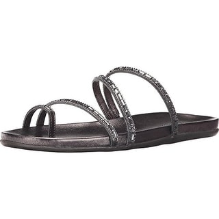 Kenneth Cole Reaction Womens Slim Love Faux Leather Embellished Flat Sandals - 7.5 medium (b,m)