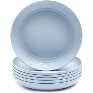 """Link to 6-Pack Wheat Straw Plate 8.75"""" Unbreakable Microwave Safe Eco-Friendly Tableware - 8.75"""" X 1.25"""" Similar Items in Dinnerware"""