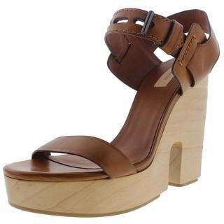 Reed Krakoff Womens Brindle Heels Leather Buckle - 7.5