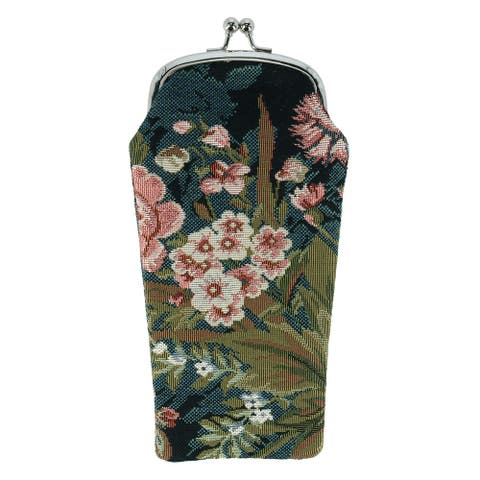 CTM® Women's Floral Print Tapestry Glasses Case - one size
