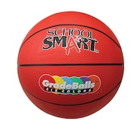 School Smart 27 in Gradeball Rubber Junior Basketball, Red