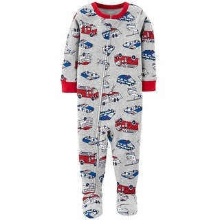 Carters Boys 12-24 Months Rescue Vehicles Sleeper - grey - 12 months
