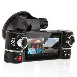 "Indigi® F600 Car DVR DashCam w/ Dual Rotating Cameras (Front+Rear) with 2.7"" LCD w/ Nightmode & Gravity Sensor"