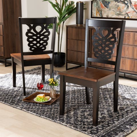 Gervais Modern and Contemporary Transitional 2-Piece Dining Chair Set