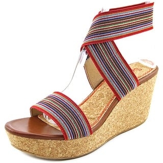 Splendid Geena Open Toe Synthetic Wedge Sandal