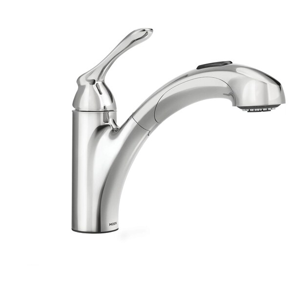 Shop Moen 87017 Pullout Spray Kitchen Faucet From The