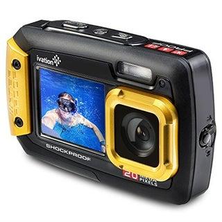 Ivation 20MP Underwater Waterproof Shockproof Digital Camera, Dual LCD Display
