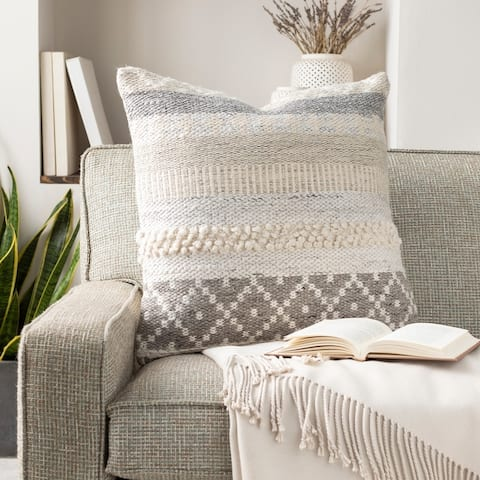 Lilith Cozy Nordic Wool Throw Pillow