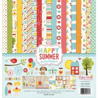 "Echo Park Collection Kit 12""X12""-Happy Summer - happy summer"