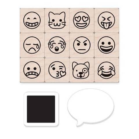 Emoji Icons Stamps Mini Tub, Set of 12 - One Size