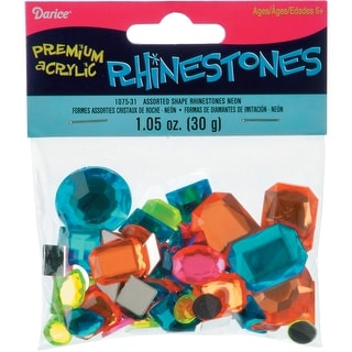 Sew-On Rhinestones 30g-Neon