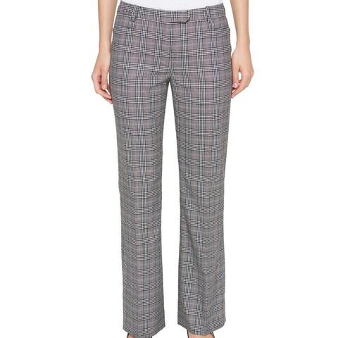Tommy Hilfiger Womens Plaid Dress Pants Stretch
