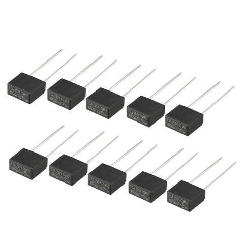 10Pcs DIP Mounted Miniature Square Slow Blow Micro Fuse T5A 5A 250V Black - T5A(10Pcs)