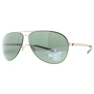 Smith Optics Ridgeway RGPPGNGD Gold/Green Polarized Men's Aviator Sunglasses - Gold - 50mm-15mm-140mm