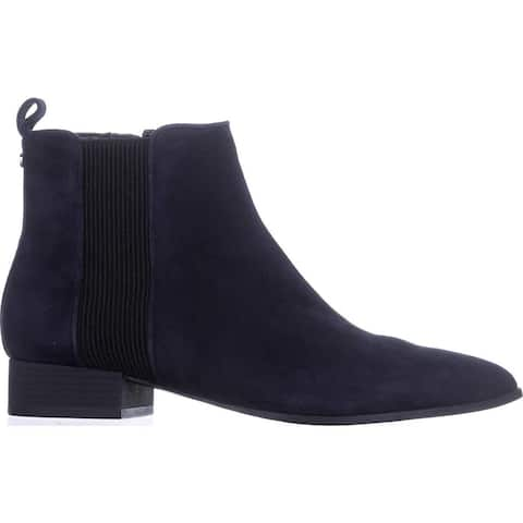 DKNY Womens talie Leather Closed Toe Ankle Chelsea Boots