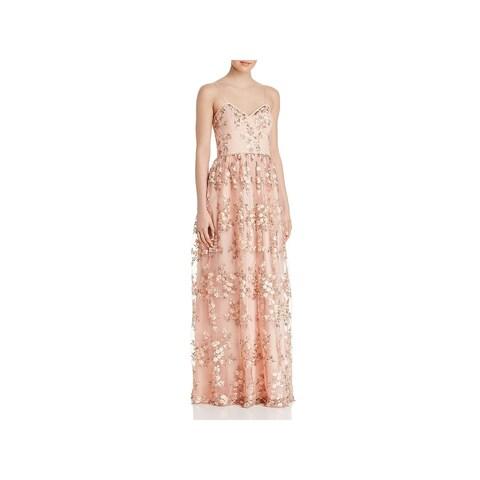 Aidan by Aidan Mattox Womens Evening Dress Full-Length Embroidered