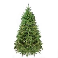 7.5' Pre-Lit Noble Fir Full Artificial Christmas Tree - Clear Lights - green